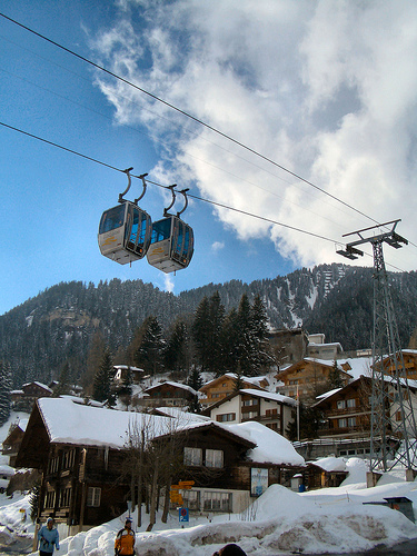 Gondolas at Adelboden