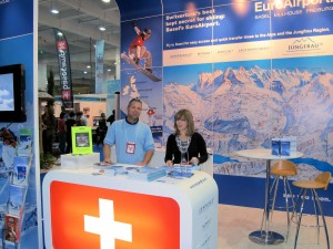 Euroairport stand at Ski and Snowboard Show, London