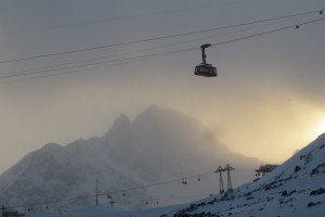 Cable Car up Corviglia from St Moritz Bad