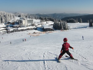 Child skiing in Feldberg