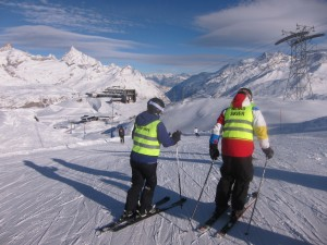 Blind skier at Zermatt