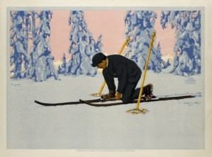 skier gets ready to hit the piste