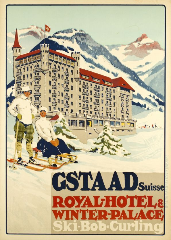 Gstaad Royal Hotel ski bob curling