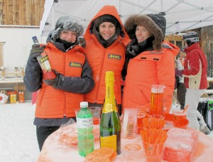 Aperol cocktails at 1 franc apiece in the Swiss Alps
