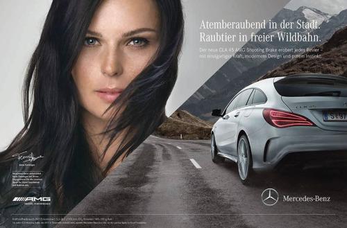 Anna Fenninger in Mercedes Ad