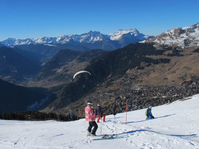 parascending over Verbier