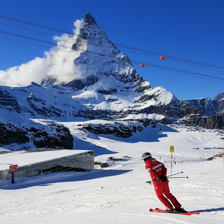 Ski instructor at Zermatt