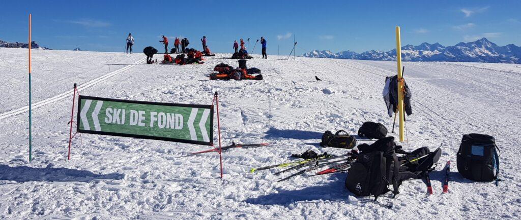 Ski de fond at Glacier3000